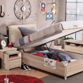 Παιδικό κρεβάτι με αποθηκευτικό χώρο D-1705 USB CHARGING – D-1705 USB CHARGING