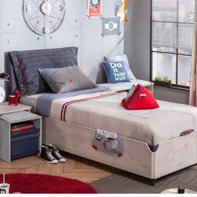 Παιδικό κρεβάτι με αποθηκευτικό χώρο TR-1705 USB CHARGING – TR-1705 USB CHARGING